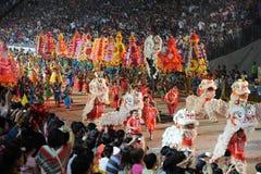 Desfile Singapur de Chingay 2011 Imágenes de archivo libres de regalías