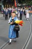 Desfile suizo del día nacional en Zurich Fotos de archivo libres de regalías