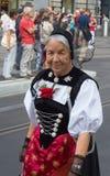 Desfile suizo del día nacional en Zurich Foto de archivo