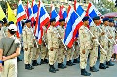Desfile tailandés del indicador nacional Imagen de archivo libre de regalías