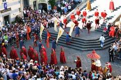 Desfile veneciano Fotos de archivo