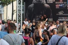Desfile 2018 versión parcial de programa de Hamburgo, Alemania LGBTIQ de la CDS fotografía de archivo