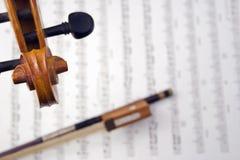 Desfile y pegbox del violín Fotografía de archivo