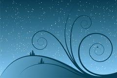 Desfiles abstractos del invierno ilustración del vector