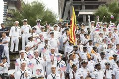 19 11 2017 desfiles navales, internacionales internacionales 2017 del aniversario del ` s 50 de la ANSA del comentario de la flot Fotos de archivo libres de regalías