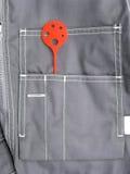 Desgaste del trabajo del bolsillo Foto de archivo libre de regalías