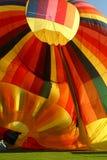 Deshinchadura del globo del aire caliente Foto de archivo libre de regalías