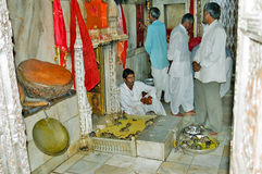 Karni Mata Deshnoke Rat Temple, Bikaner India. Deshnoke the famous Karni Mata temple which is known for its rats, which are treated as sacred and given stock images