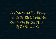 Deshuesa alfabeto ilustración del vector