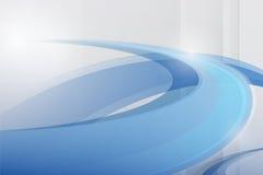 抽象传染媒介蓝色波浪背景,未来派技术desi 免版税库存照片