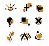 Desi abstrait jaune et noir Images libres de droits