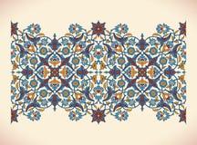 Desi floral élégant de printfor de décoration de frontière de vintage d'arabesque Photo libre de droits