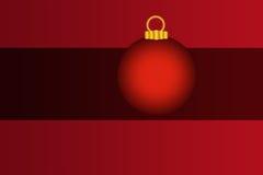 Desi vermelho e preto do ornamento do bulbo do feriado do Natal Imagens de Stock Royalty Free