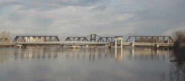 DeSiard gatabro, över Ouachita River, royaltyfria bilder