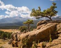 Desidera di punta, la traccia Ridge Road, Rocky Mountain National Park, CO Immagini Stock Libere da Diritti