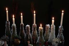 Desideri alle luci del candl Fotografia Stock Libera da Diritti