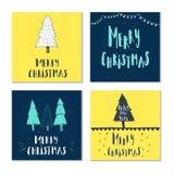 Desideri scritti a mano meravigliosi ed unici di Natale Fotografie Stock Libere da Diritti