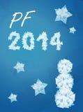 Desiderio al nuovo anno 2014 Immagini Stock Libere da Diritti