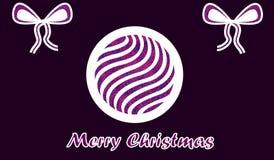 Desiderio di carta porpora di Buon Natale Fotografia Stock Libera da Diritti