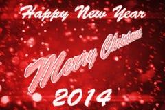Desiderio ognuno buon anno e Buon Natale Immagine Stock Libera da Diritti