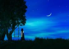 Desiderio su una stella Fotografie Stock