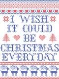 Desidero che potrebbe essere modello senza cuciture scandinavo di ogni giorno di Natale ispirato entro l'inverno festivo della cu royalty illustrazione gratis
