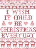 Desidero che potrebbe essere modello senza cuciture scandinavo di ogni giorno di Natale ispirato entro l'inverno festivo i della  royalty illustrazione gratis