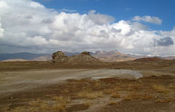 Desierto agradable en otoño Imágenes de archivo libres de regalías