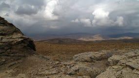 Desierto agradable en otoño Fotos de archivo libres de regalías