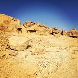 Desierto antiguo de Theben Fotografía de archivo