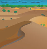 Desierto australiano ilustración del vector