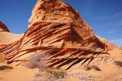 Desierto Barranco-bermellón de los acantilados de Paria, Arizona, los E.E.U.U. Foto de archivo libre de regalías