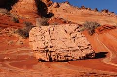 Desierto Barranco-bermellón de los acantilados de Paria, Arizona, los E.E.U.U. Fotos de archivo