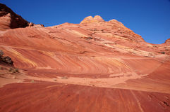 Desierto Barranco-bermellón de los acantilados de Paria, Arizona, los E.E.U.U. Fotografía de archivo libre de regalías