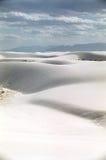 Desierto blanco de la arena Imágenes de archivo libres de regalías