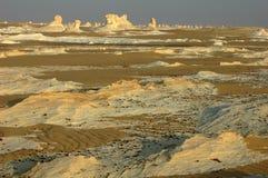Desierto blanco en Egipto Fotografía de archivo