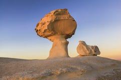 Desierto blanco en Egipto Fotos de archivo