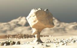 Desierto blanco, Sáhara, Egipto ilustración del vector