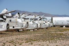 Desierto Boneyard Foto de archivo libre de regalías