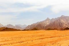 Desierto caliente sin vida Fotos de archivo libres de regalías