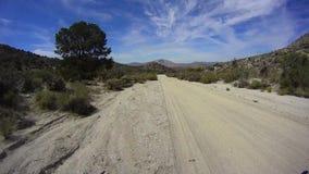 Desierto California de Borrego del camino - Pinyon Mtn RD 6 almacen de video