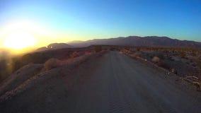 Desierto campo a través - desierto Ca de Anza Borrego del punto 7 de las fuentes metrajes