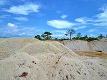 Desierto causado por la mina de oro Fotografía de archivo libre de regalías