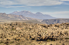 Desierto cerca de Arequipa Foto de archivo