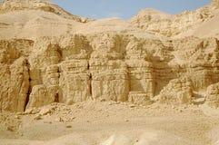 Desierto cerca del mar muerto Imagen de archivo libre de regalías