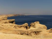 Desierto cerca del Mar Rojo Fotos de archivo libres de regalías
