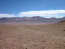 Desierto Colorado przy Bolivia altiplano pustynią Fotografia Stock