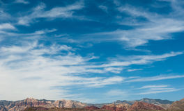 Desierto colorido de la montaña Foto de archivo libre de regalías