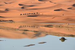 Desierto de Chebbi del ergio foto de archivo
