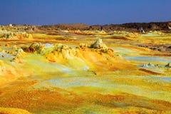 Desierto de Dalol en Etiopía foto de archivo libre de regalías